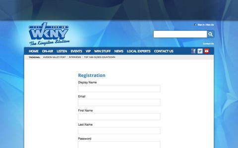Screenshot of Signup Page 1490wkny.com - 1490 WKNY –  The Kingston Station – Poughkeepsie News Radio - captured May 24, 2016