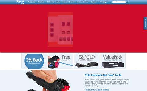 Screenshot of Home Page icc.com - Structured Cabling, Network Cabling, Structured Wiring Solutions | ICC - captured Sept. 23, 2014