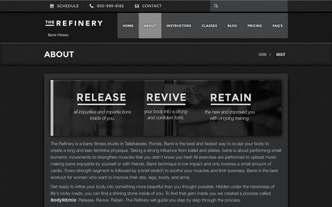 Screenshot of About Page therefineryfitness.com - ABOUT - The Refinery Fitness StudioThe Refinery Fitness Studio - captured March 16, 2016