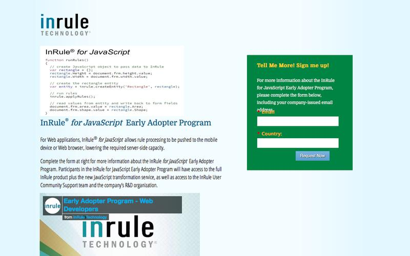 InRule for JavaScript - EAP - Web Dev