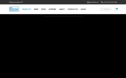 Screenshot of Products Page boxx.tv - Products – Boxx.TV - captured Oct. 5, 2018