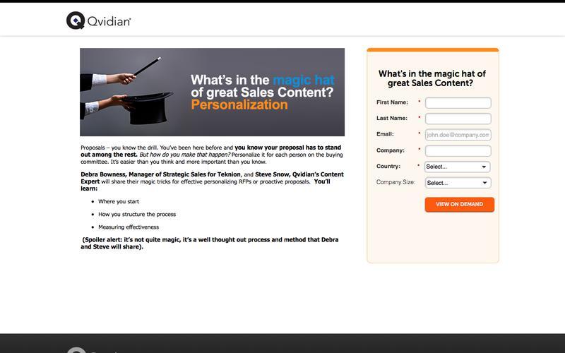Magic Hat of Sales Content - Personalization | Qvidian