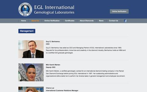 Screenshot of Team Page eglinternational.org - Management   egl international - captured Sept. 26, 2014