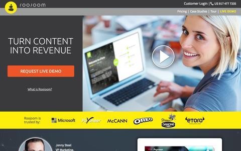 Screenshot of Blog roojoom.com - Roojoom - Turn content into Revenue - captured July 15, 2015