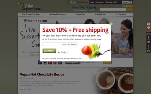 Screenshot of Press Page livesuperfoods.com - Live Superfoods - captured Dec. 5, 2015