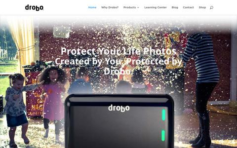 Screenshot of Home Page drobo.com - Home Page - Drobo | Safe Expandable Simple Storage - captured Oct. 27, 2015