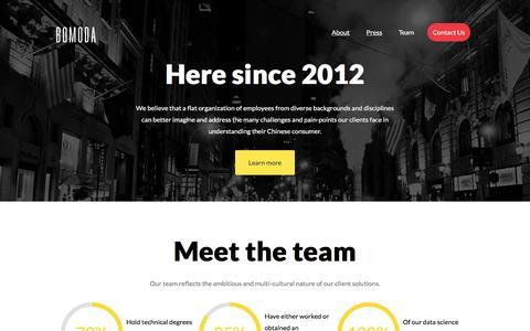 Screenshot of Team Page bomoda.com - Bomoda   Consumer Intelligence Company - captured July 4, 2016