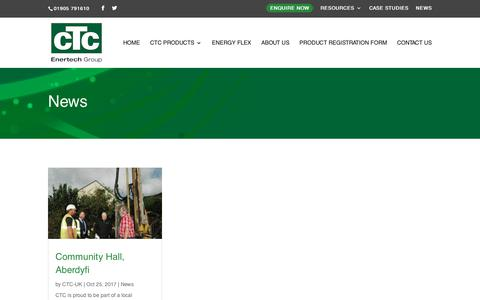 Screenshot of Press Page ctc-uk.com - News - CTC-UK - captured Dec. 7, 2018