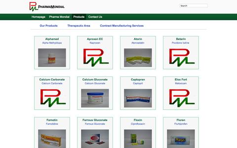 Screenshot of Products Page pharmamondial.com - Pharma Mondial LTD - captured Sept. 29, 2014