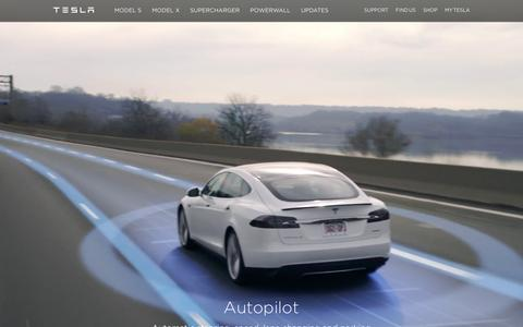 Screenshot of Home Page teslamotors.com - Tesla Motors | Premium Electric Vehicles - captured Jan. 28, 2016