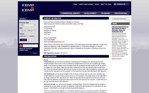 Screenshot of Contact Page kempandkemp.co.uk - Kemp and Kemp: Contact Us - captured Oct. 6, 2014