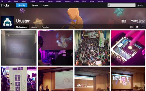 Screenshot of Flickr Page flickr.com - Flickr: Urustar's Photostream - captured Oct. 26, 2014
