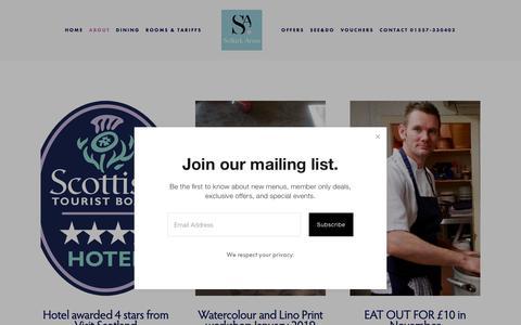 Screenshot of Press Page selkirkarmshotel.co.uk - News — Selkirk Arms Hotel - captured Nov. 5, 2018