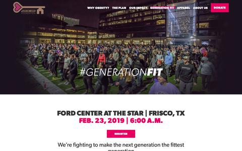Screenshot of Signup Page advocarefoundation.org - Generation Fit 2019 - AdvoCare Foundation - captured Dec. 6, 2018