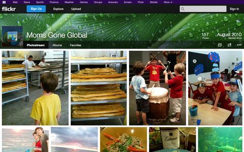 Screenshot of Flickr Page flickr.com - Flickr: Moms Gone Global's Photostream - captured Oct. 26, 2014