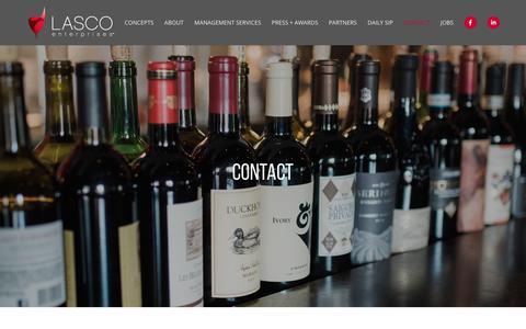 Screenshot of Contact Page lascoenterprises.com - Contact | Lasco Enterprises - captured Nov. 23, 2019