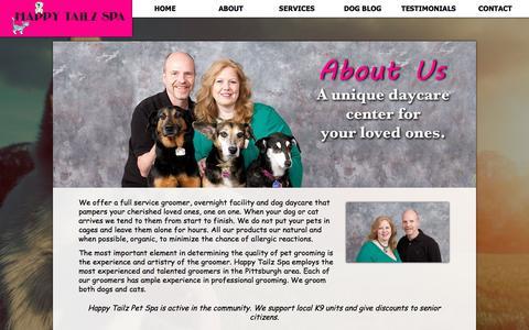 Screenshot of About Page happytailzspa.com - About Happy Tailz Pet Spa | Happy Tailz Spa - captured July 11, 2016