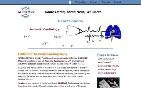 Screenshot of Home Page inovise.com - Inovise Medical - captured Sept. 12, 2014