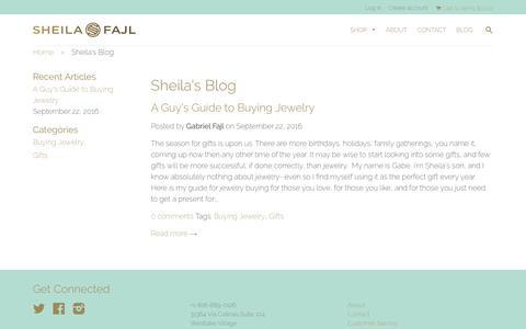 Screenshot of Blog sheilafajl.com - Sheila's Blog – Sheila Fajl - captured Nov. 18, 2016