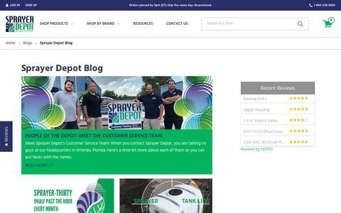 Screenshot of Blog sprayerdepot.com - Sprayer Depot Blog   The #1 Source for Professional Spray Equipment - captured Oct. 20, 2018