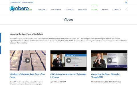 Videos - Obero SPM