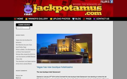 Screenshot of Blog jackpotamus.com - Jackpotamus.com - Casino Blog News - captured Oct. 6, 2014