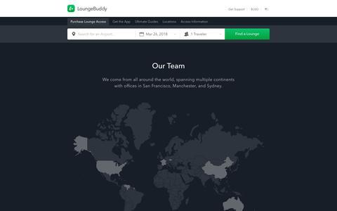 Screenshot of Team Page loungebuddy.com - Our Team | LoungeBuddy - captured March 27, 2018