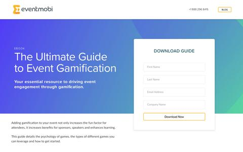 Screenshot of Landing Page eventmobi.com - Ultimate Guide to Event Gamification - captured Feb. 24, 2018
