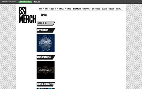 Screenshot of Services Page bsimerch.com - Music Merchandise E Commerce company | BSI Merch - captured Oct. 27, 2014