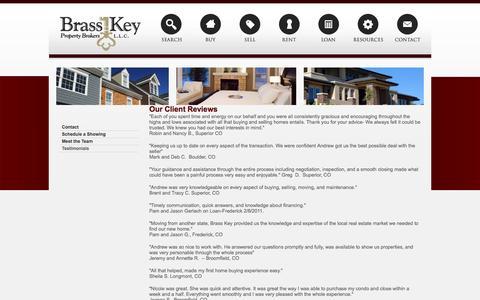 Screenshot of Testimonials Page yourwayhome.com - Testimonials - captured Nov. 23, 2016
