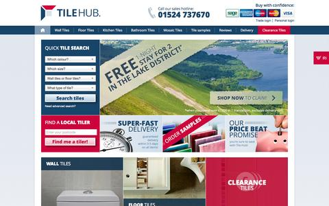 Screenshot of Home Page tilehub.co.uk - Tiles, Tile Suppliers, Tiles Online, Wall and Floor Tiles - captured Oct. 9, 2014