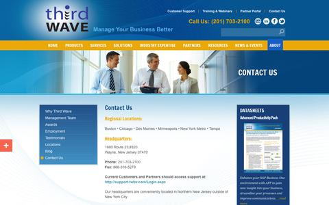 Screenshot of Contact Page twbs.com - Contact Third Wave Business Systems - captured Oct. 10, 2014
