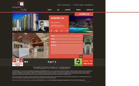 Screenshot of Contact Page fotografixs.net - Miami Architectural Photographer Contact Us | Fotografixs - captured Nov. 25, 2016