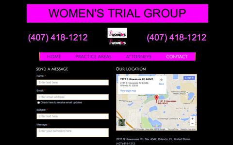Screenshot of Contact Page wtgfirm.com - Contact - captured Feb. 17, 2016