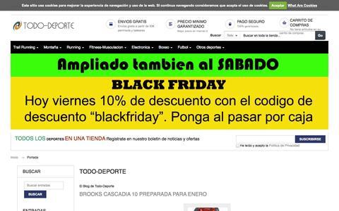 Screenshot of Blog todo-deporte.com - Todo-Deporte    El Blog de Todo-Deporte - captured Nov. 1, 2014