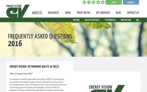 Screenshot of FAQ Page energy-vision.org - Frequently Asked Questions - Energy Vision - captured May 19, 2017