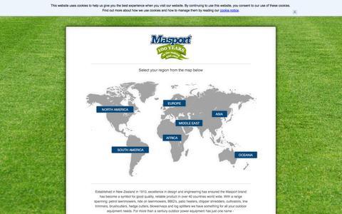 Screenshot of Home Page masport.com - Masport Limited | Lawn & Garden Products - captured Sept. 30, 2014