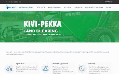 Screenshot of Home Page farmcointernational.com - Home Page - Farmco International - captured Aug. 10, 2018