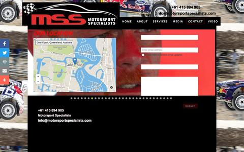 Screenshot of Privacy Page Contact Page motorsportspecialists.com - Motorsport Specialists - Contact - captured Dec. 22, 2016