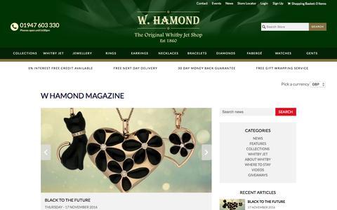 Screenshot of Press Page whamond.com - W Hamond Blog               | W Hamond - The Original Whitby Jet Store Est.1860 - captured Nov. 28, 2016