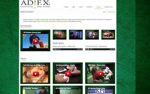 Screenshot of Press Page adfxllc.com - ADFX Video Portfolio | Creativity That Works - captured Nov. 2, 2014