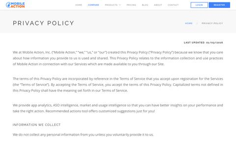 Mobile Action - Privacy Policy