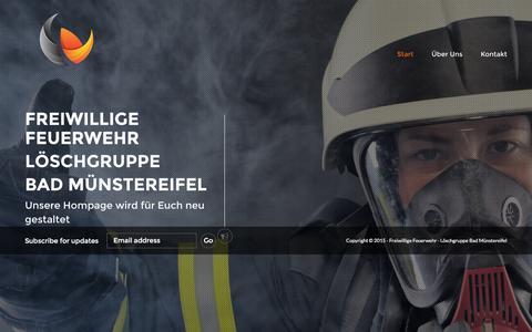 Screenshot of Home Page feuerwehr-bad-muenstereifel.info - Feuerwehr Bad Münstereifel - captured June 11, 2016
