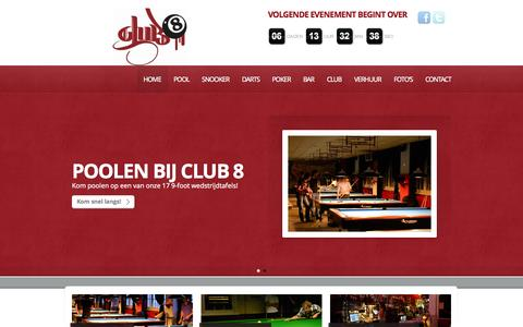 Screenshot of Home Page club-8.nl - Club 8 Amsterdam - captured Sept. 30, 2014