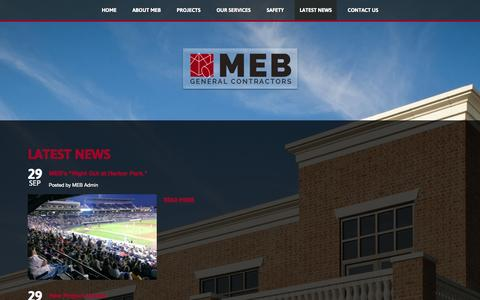 Screenshot of Press Page mebgc.com - Latest News - captured Oct. 3, 2014