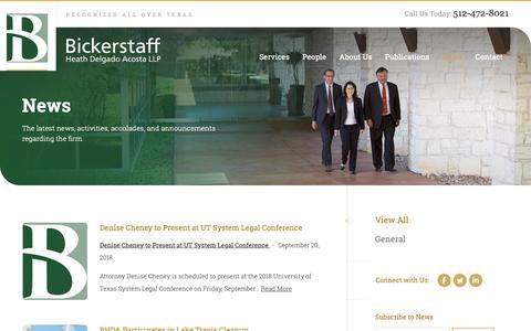 Screenshot of Press Page bickerstaff.com - News - Bickerstaff Heath Delgado Acosta LLP - captured Oct. 5, 2018