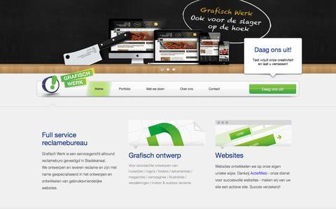 Screenshot of Home Page grafischwerk.nl - Grafisch Werk Stadskanaal ~ Reclamebureau voor Ontwerp, Reclame, Drukwerk en Webdesign - captured Feb. 21, 2018