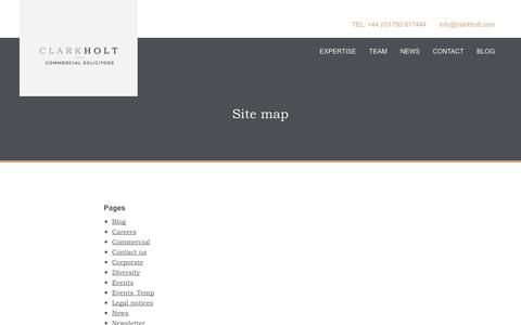 Screenshot of Site Map Page clarkholt.com - Site Map | Clark Holt Solicitors - captured Sept. 28, 2018
