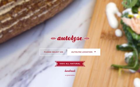 Screenshot of Home Page autolyse.com.au - Autolyse Bakery - captured Sept. 1, 2015