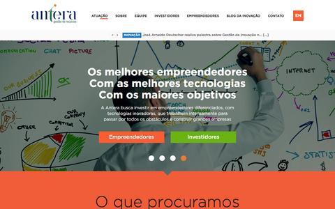 Screenshot of Home Page anteragr.com.br - Home - Antera - captured Feb. 6, 2016